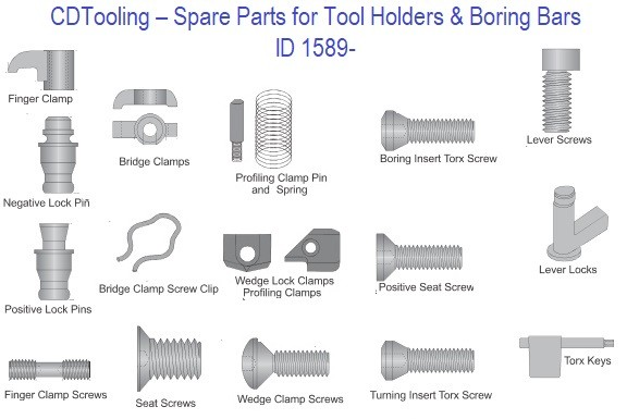 Indexable Tool Spare Parts, Screws, Clamps,Clips, Pins, Wedge ID 1589-