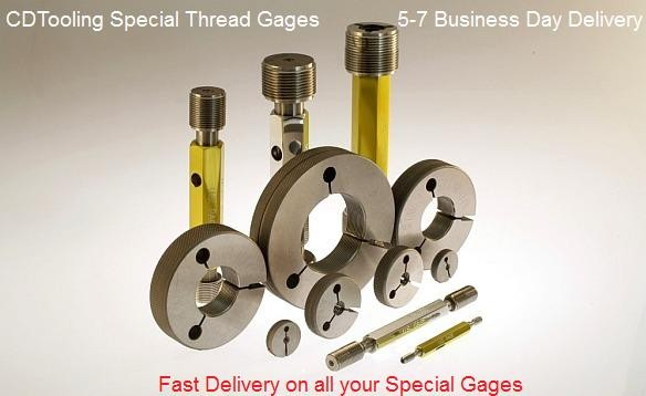 Special Thread Gages 7 Day Delivery Work Plugs, Rings Set Plugs